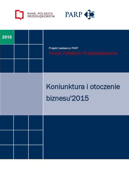 Koniunktura i otoczenie biznesu - 2015