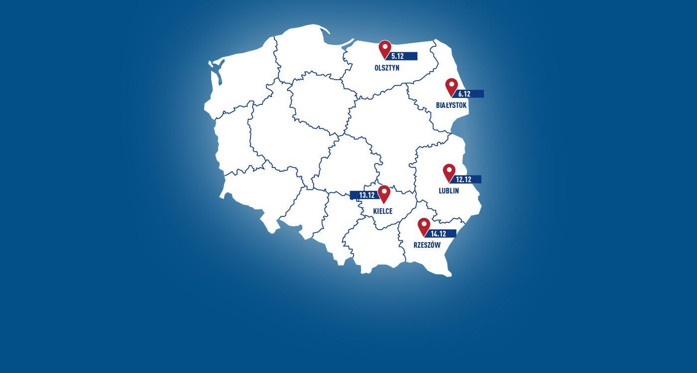Polska Wschodnia na start! Transmisje online